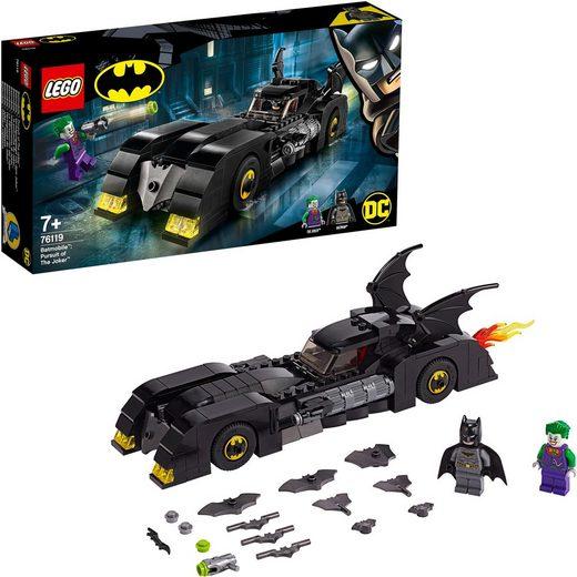LEGO® Konstruktionsspielsteine »Batmobile™: Verfolgungsjagd mit dem Joker™ (76119), LEGO® DC Comics Super Heroes«, Kunststoff, (342 St)