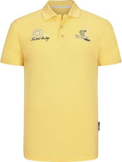 Jan Vanderstorm Poloshirt »LANDOGAR« mit modischer Bruststickerei