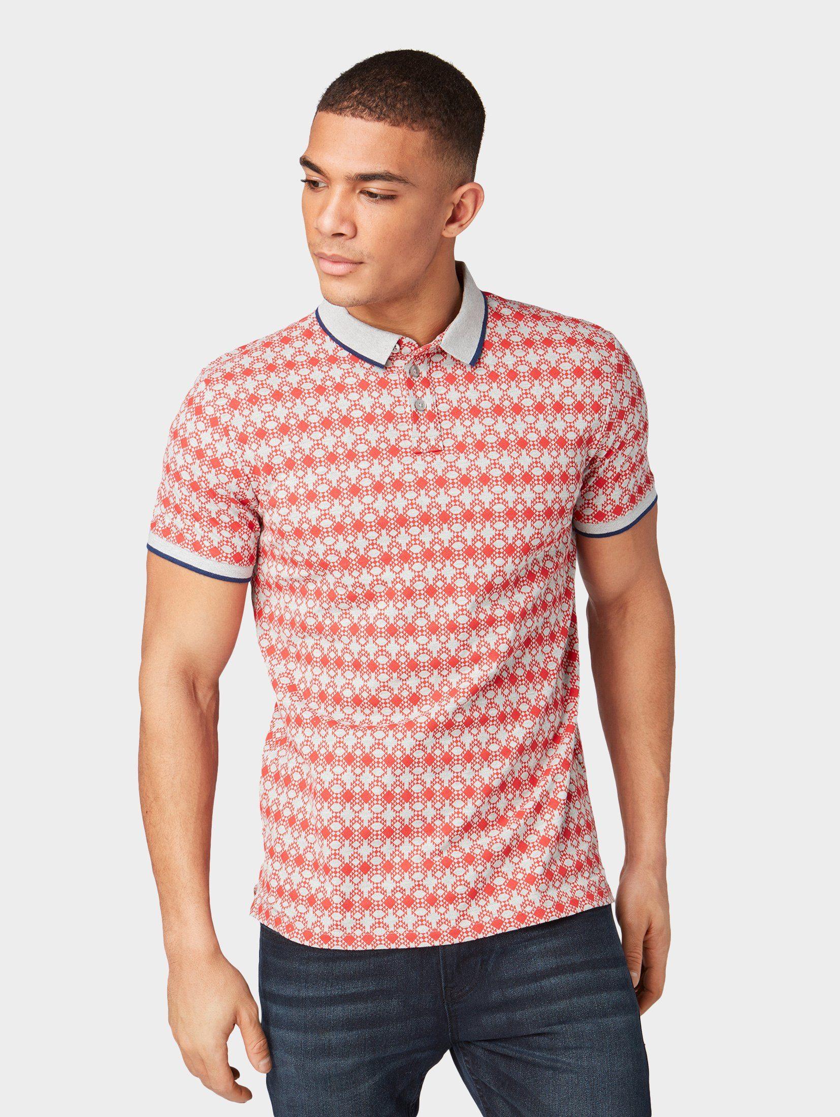 Tom Tailor Denim Mit Kurzer Knopfleiste Rosa T Shirt Herren