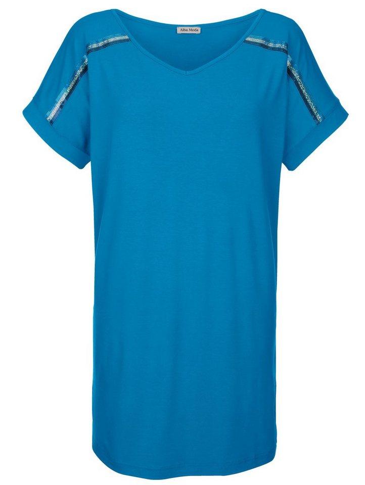 Alba Moda Strandshirt mit Pailletten