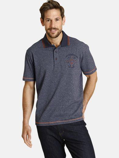 Jan Vanderstorm Poloshirt »ODLF« mit farblichen Kontrasten