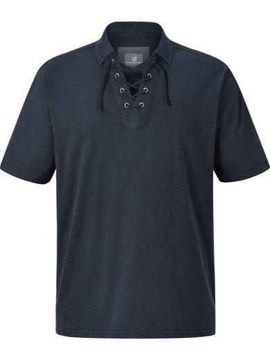 Jan Vanderstorm Poloshirt »ALVIN« mit modischer Kordelschnürung