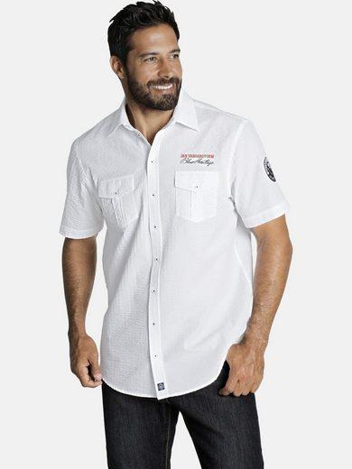 Jan Vanderstorm Kurzarmhemd »ELNOR« aus reiner Baumwolle