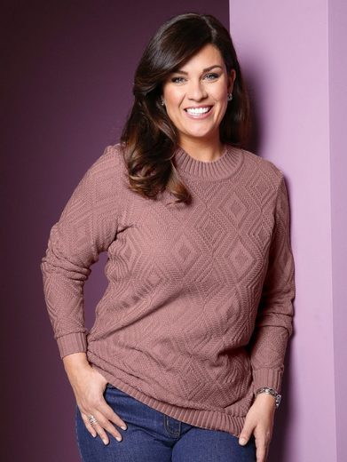 m. collection Pullover mit Strickmuster