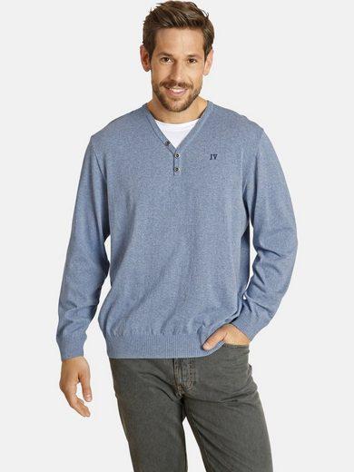 Jan Vanderstorm V-Ausschnitt-Pullover »BEINT« mit Einsatz am Kragen