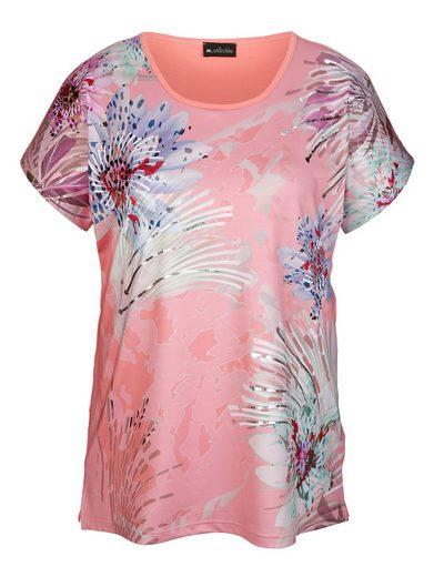 m. collection Shirt mit sommerlichem Blütendruckdessin
