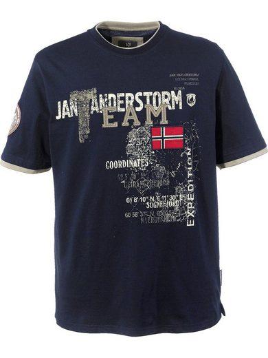 Jan Vanderstorm T-Shirt »SÖLVE« in Doppellagen-Optik