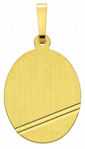 Adelia´s Kette ohne Anhänger »333 Gold Gravurplatte Anhänger - Set mit Halskette«, 333 Gold Goldschmuck für Damen