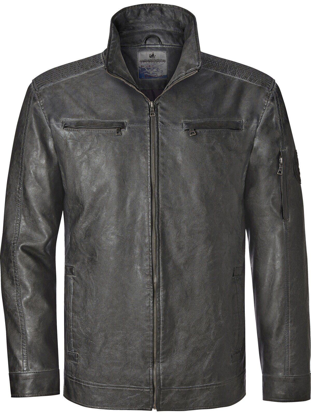 Jan Vanderstorm Lederimitatjacke »TOSTE« jede Jacke ist ein Unikat online kaufen | OTTO