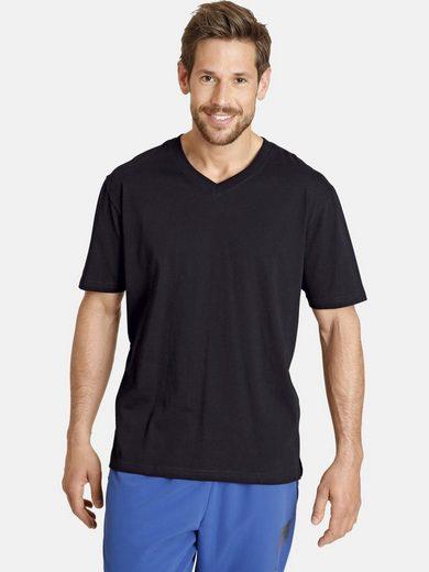 Jan Vanderstorm V-Shirt »Set: OSMO« (Packung, 2er-Pack) mit bequemen Seitenschlitzen