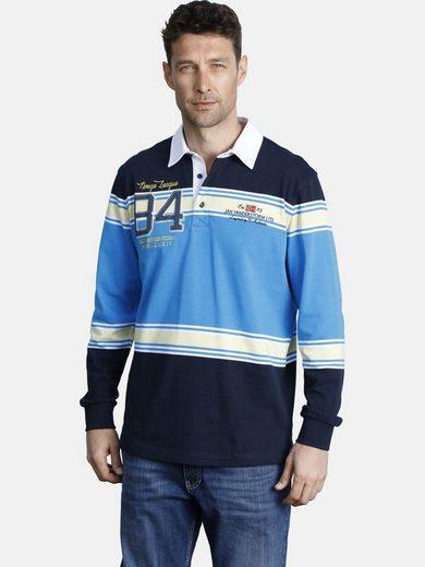 Jan Vanderstorm Sweatshirt »JOCKE« mit Kragen in Kontrastfarbe