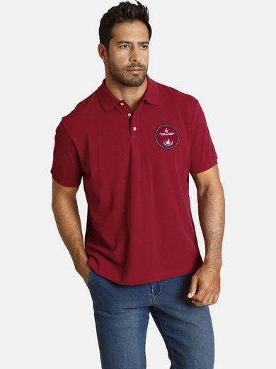 Jan Vanderstorm Poloshirt »TOIKA« mit gesticktem Fliegermotiv