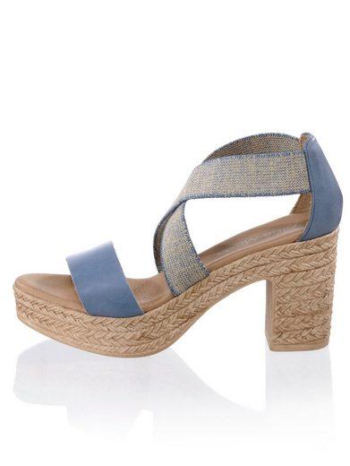 Alba Moda Sandalette mit Glanzgarn