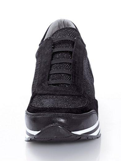 Alba Moda Sneaker in trendigem Materialmix