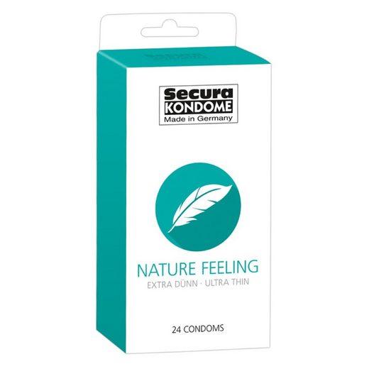 Secura Kondome »Secura Nature Feeling Kondome 24 Stück extra dünn Gefühlsecht transparent«
