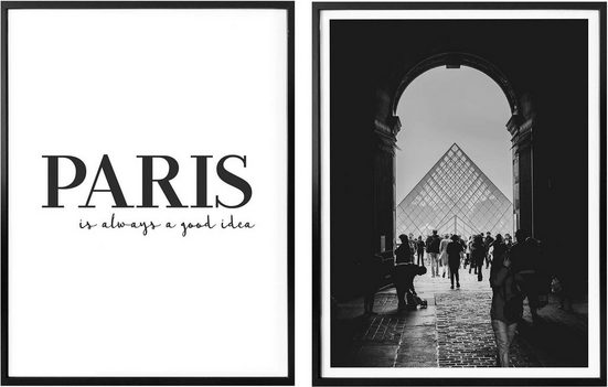 Poster »Paris is always a good idea«, (Set, 2 Stück)