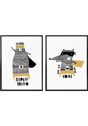 Plakatas »Superhelden« (Rinkinys 2 St....