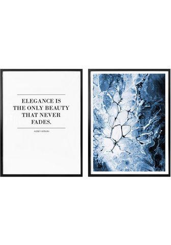 Plakatas »Blaue Eleganz« (Rinkinys 2 S...
