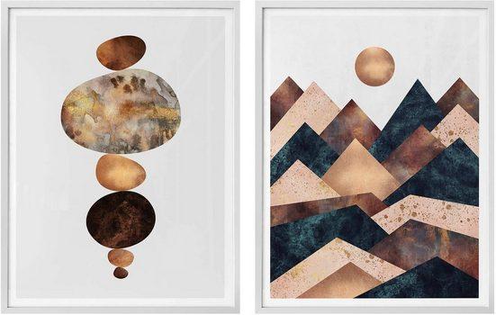 Wall-Art Poster »Fredriksson - Harmonie«, (Set), mit Rahmen