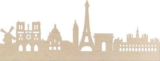 Wanddekoobjekt »Pappel Furnier - Skyline Paris«