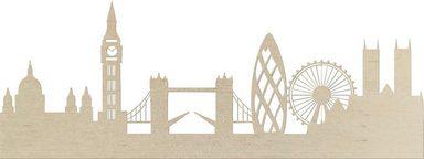 Wanddekoobjekt »Pappel Furnier - Skyline London«