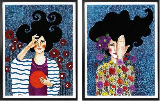 Wall-Art Poster »Hülya - Augenblicke«, (Set), mit Rahmen, Poster, Wandbild, Bild, Wandposter