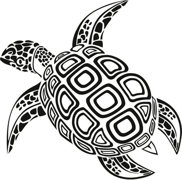 Wandtattoo »Schildkröte« | Dekoration > Wandtattoos > Wandtattoos | Grün | OTTO