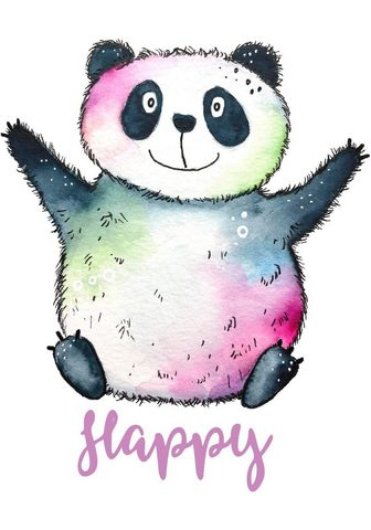 Sienos lipdukai »Happy Panda«