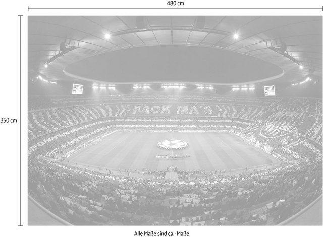 Fototapete »Bayern München Stadion Choreo Pack Mas« | Baumarkt > Malern und Tapezieren > Tapeten | OTTO