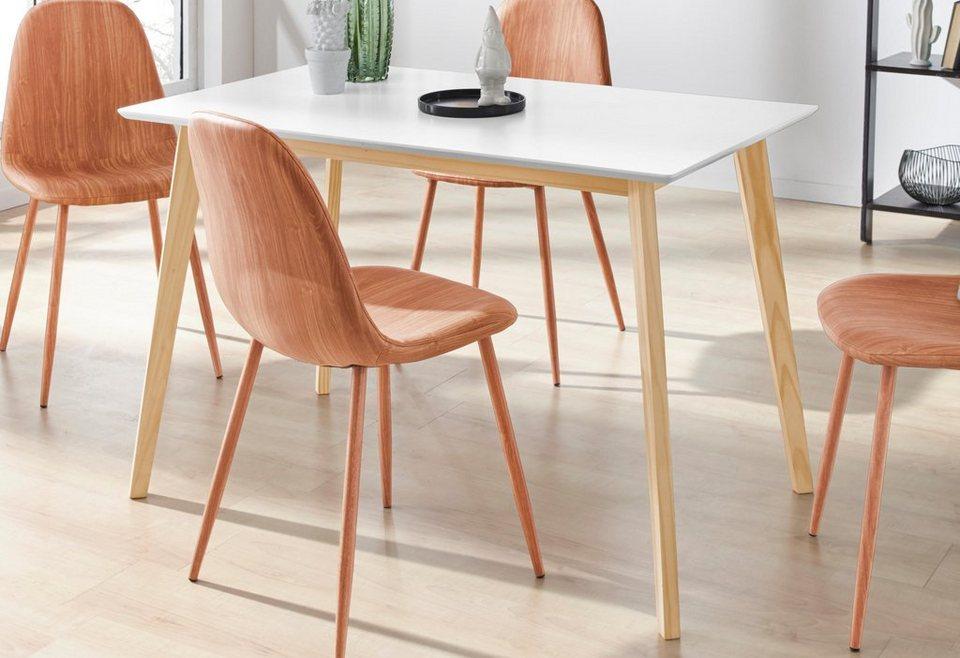Inosign Esstisch Cody Mit Beinen Aus Massiver Kiefer Eckige Mdf Tischplatte In 2 Verschiedenen Farbvarianten Online Kaufen Otto