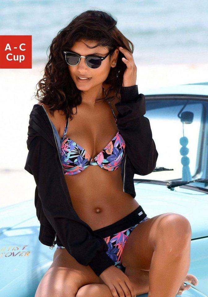 Bademode - Bench. Push Up Bikini Top »Pitch«, mit farbenfrohem Druck ›  - Onlineshop OTTO
