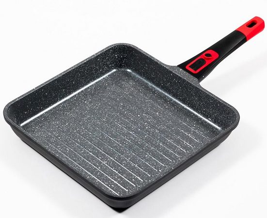 KING Grillpfanne »Click-Grip«, Aluminiumguss (1-tlg), abnehmbarer Griff, Induktion, 28 x 28 cm