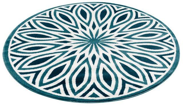 Teppich »Ronja«| my home| rund| Höhe 11 mm | Heimtextilien > Teppiche > Sonstige-Teppiche | Blau | My Home