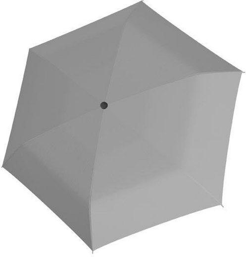 doppler® Taschenregenschirm »Fiber Havanna uni, Grey«