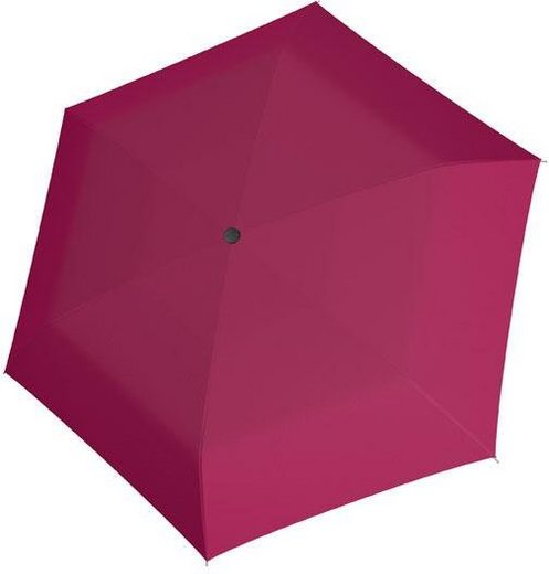 doppler® Taschenregenschirm »Fiber Havanna uni, Berry«
