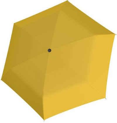 doppler® Taschenregenschirm »Fiber Havanna uni, Yellow«