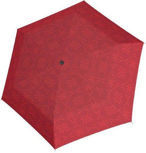 doppler® Taschenregenschirm »Carbonsteel Mini Slim Bloom, rot«