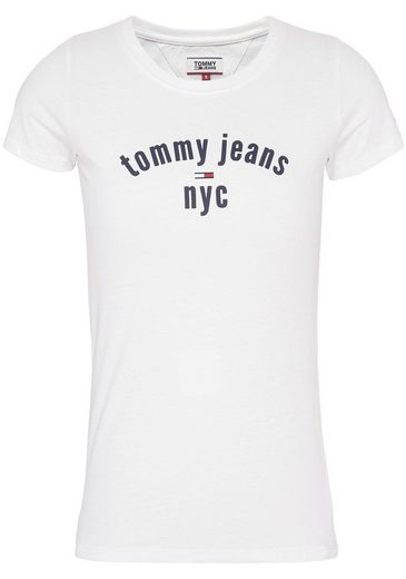 TOMMY JEANS T-Shirt mit Tommy Jeans City-Print & gestickter Logo-Flag