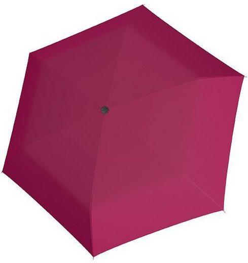 doppler® Taschenregenschirm »Carbonsteel Mini Slim uni, Berry«