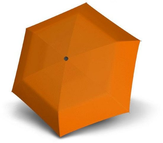 doppler® Taschenregenschirm »Fiber Havanna uni, Orange«