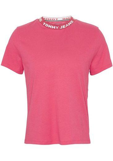 TOMMY JEANS T-Shirt »TJW BRANDED NECK TEE« mit Tommy Jeans Logo rund um den Halsausschnitt