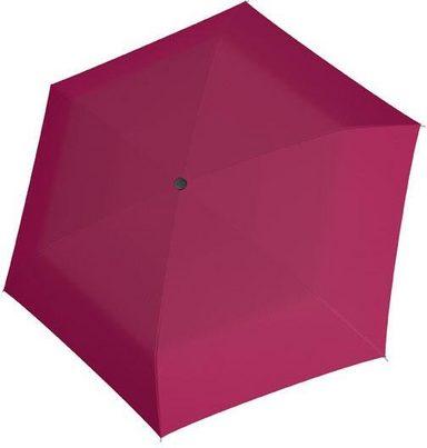 doppler® Taschenregenschirm »Fiber Handy uni, Berry«