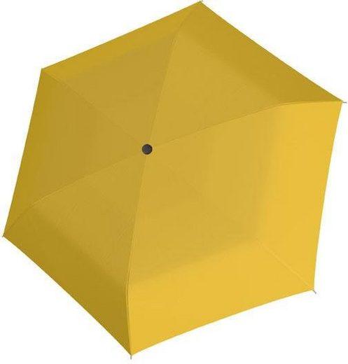 doppler® Taschenregenschirm »Fiber Handy uni, Yellow«