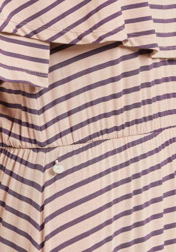 khujo Jerseykleid  TAURINA  aus weichem Jersey mit elastischem Carmen-Ausschnitt