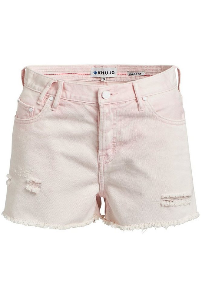 khujo Hotpants »ULINA« mit Destroyed-Details | Bekleidung > Hosen > Hotpants | Rosa | khujo