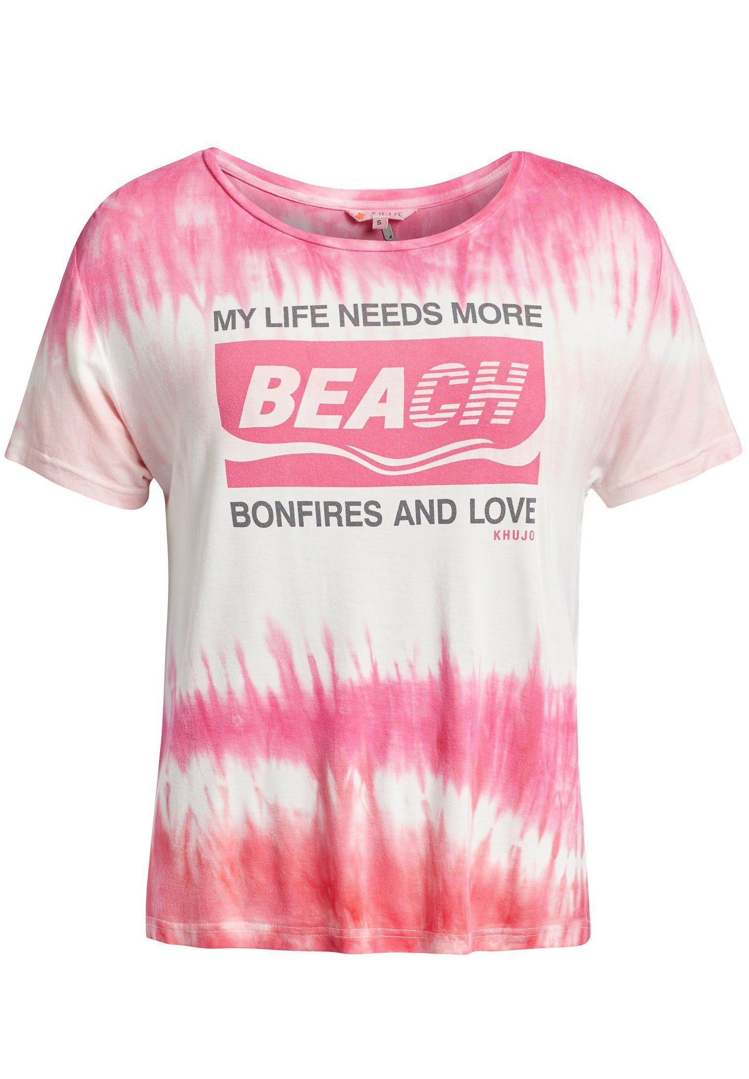 khujo T Shirt »ROMA BLOCK PRINT« aus leichtem Jersey mit Batikmuster und Print online kaufen   OTTO