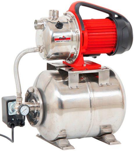 GRIZZLY Hauswasserwerk »HWW 3819 Inox«, 3.800 l/h max. Fördermenge