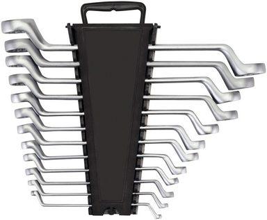 WGB Das Werkzeug Ring-Maulschlüsselsatz 12-tlg. Doppelringschlüssel-Satz, gekröpft, Stahl