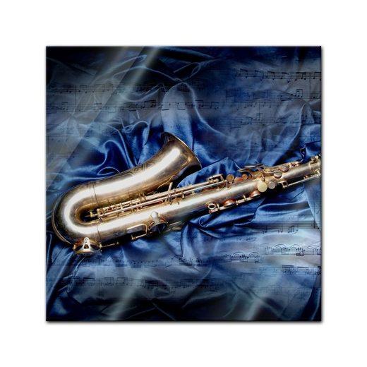 Bilderdepot24 Glasbild, Glasbild - Saxophon