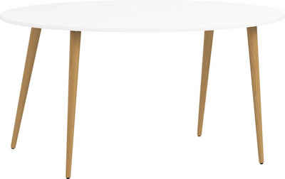Home affaire Esstisch »Oslo«, mit massiven Eichenholzbeinen, mit einer melaminbeschichteten Tischplatte, Made in Denmark, Breite 80 cm